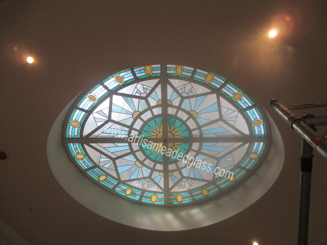 artisan stained glass ceiling2014