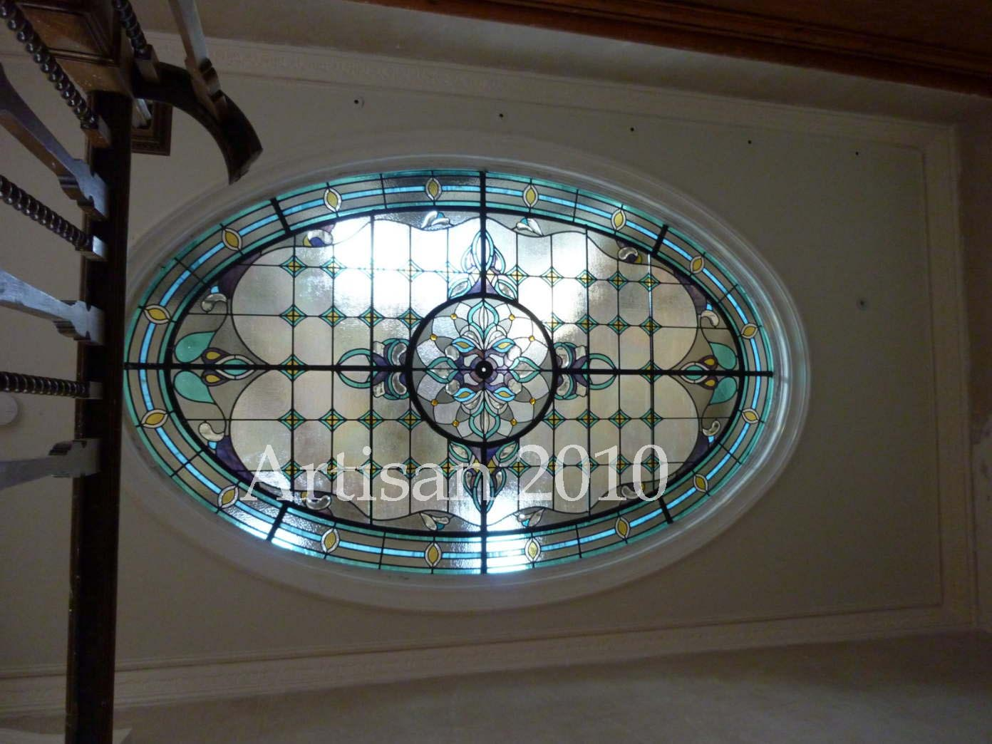 Artisan stained glass ceiling
