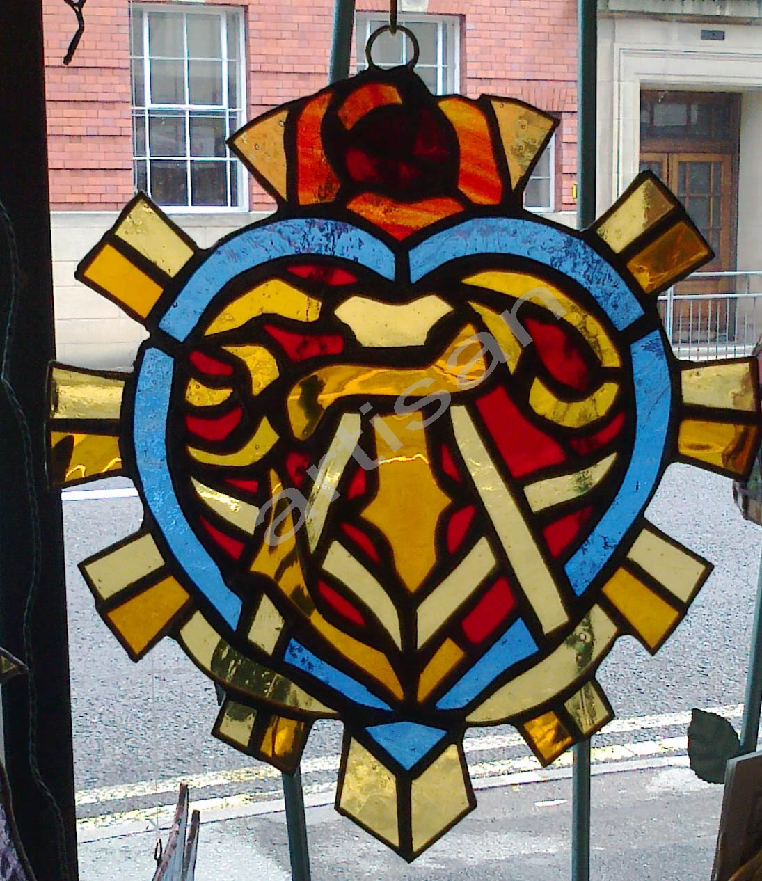 Tattoo stained glass by artisan
